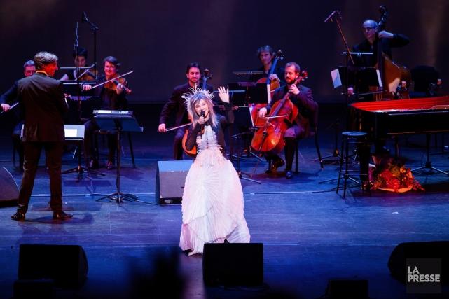 Diane Dufresne en concert au Théâtre du Châtelet... (Photo: Pierre Hybre, collaboration spéciale La Presse)