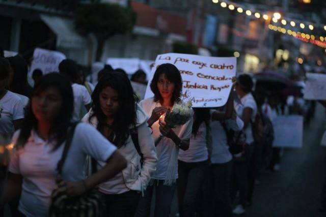 Des étudiants del'État de Guerrero ont participé à... (PHOTO JORGE DAN LOPEZ, REUTERS)