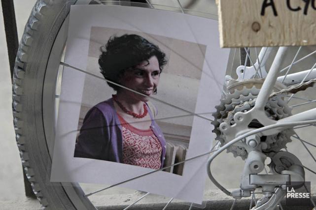 La mort de Mathilde Blais, cette cycliste tuée... (Archives La Presse, Patrick Sanfaçon)
