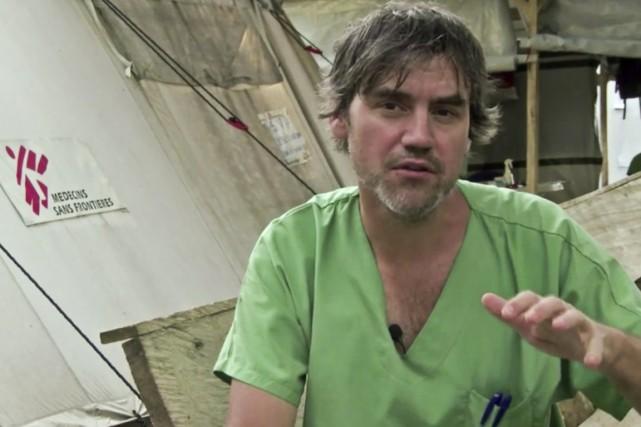 Habitué des missions humanitaires, Marc Forget a été... (PHOTO TIRÉE D'UNE VIDÉO, MÉDECINS SANS FRONTIÈRES)