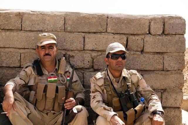 En quatre jours, les forces kurdes sont parvenues... (PHOTO ANDREW W. NUNN, COLLABORATION SPÉCIALE)