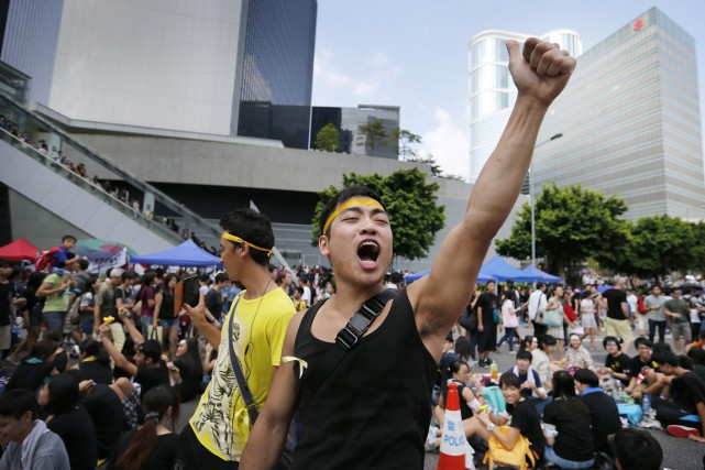 Alors que les hauts responsables chinois et hongkongais... (PHOTO WONG MAYE-E, AP)