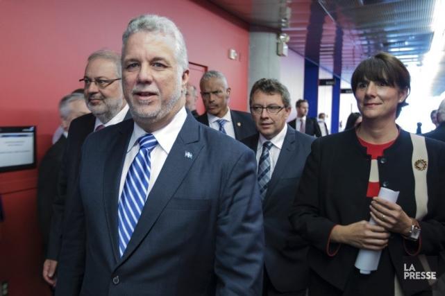 Le premier ministre Philippe Couillard et la chef... (Edouard Plante-Frechette, La Presse)