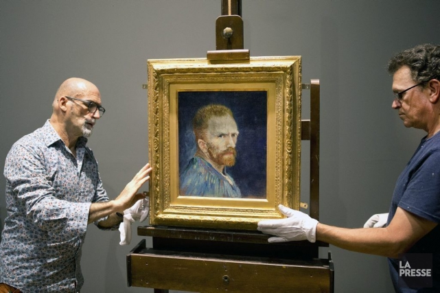 Autoportrait de Vincent Van Gogh... (Photo: Robert Skinner, La Presse)
