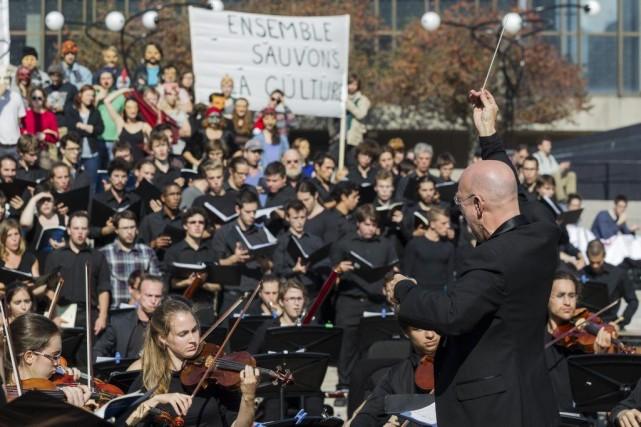 Des élèves du Conservatoire de musique de Montréal... (Edouard Plante-Frechette)