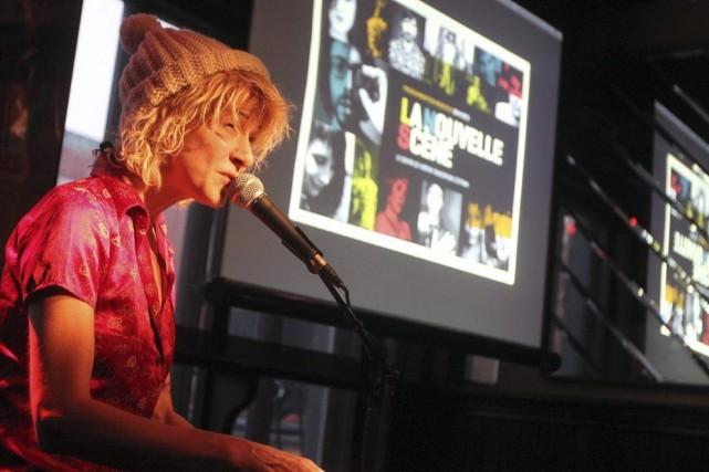 Marie-Jo Thério a animé musicalement le lancement de... (Étienne Ranger LeDroit)