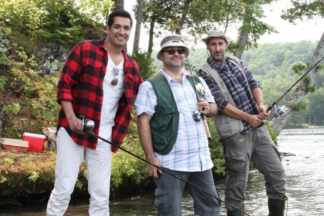 Sugar Sammy, Laurent Paquin et Martin Petit dans... (Photo: ICI Radio-Canada Télé)