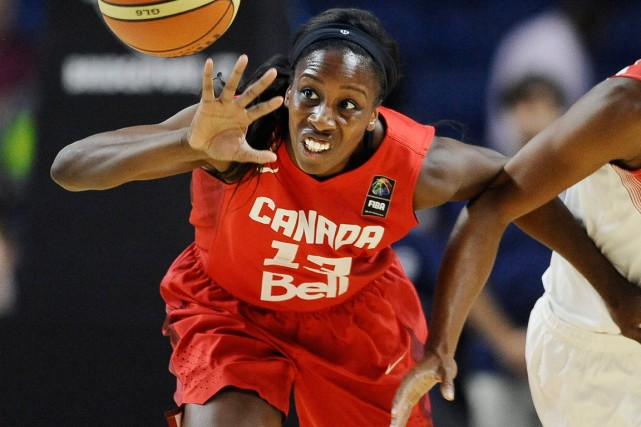 Tamara Tatham, de l'équipe canadienne féminine de basketball.... (Photo Jessica Hill, archives AP)