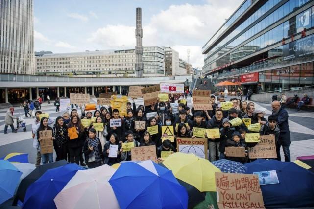 La protestation dans l'ancienne colonie britannique s'est intensifiée... (PHOTO JONATHAN NACKSTRAND, AFP)
