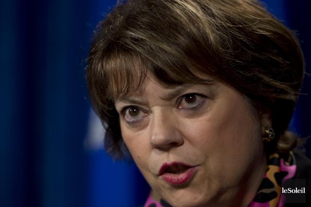 La ministre Hélène David.... (Photothèque Le Soleil)