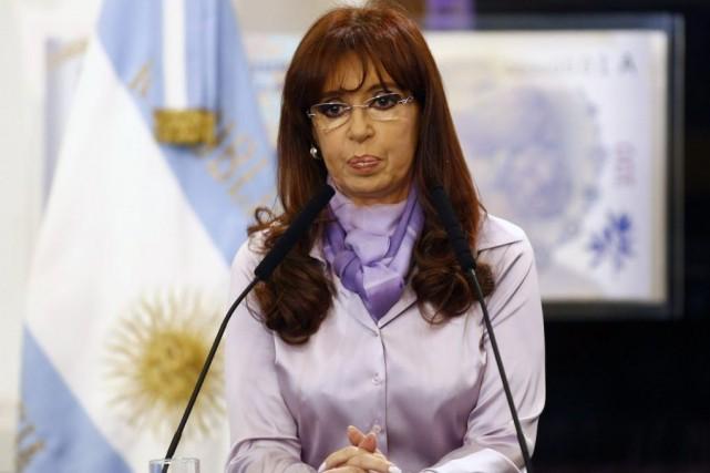 La présidente d'Argentine, Cristina Kirchner.... (PHOTO MARCOS BRINDICCI, REUTERS)