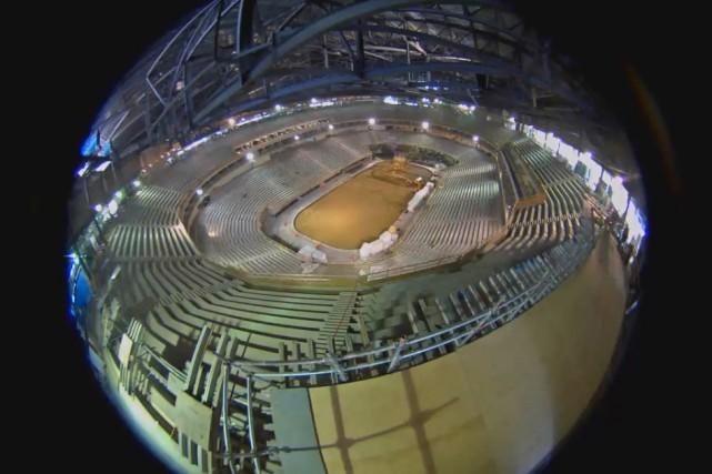 Une vue de l'intérieur de l'amphithéâtre offerte par...