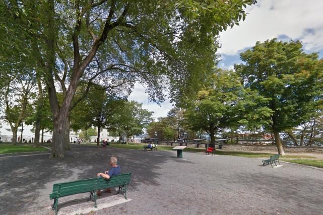Le parc Montmorency est situé dans le Vieux-Québec.... (Google Street View)