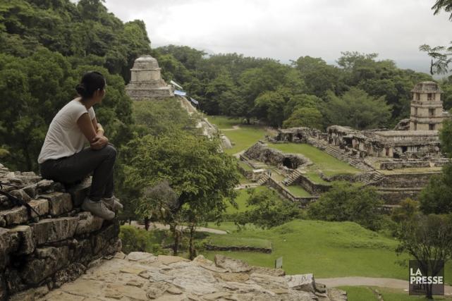 Du haut des pyramides de Palenque, plus de... (PHOTO MARTIN CHAMBERLAND, LA PRESSE)