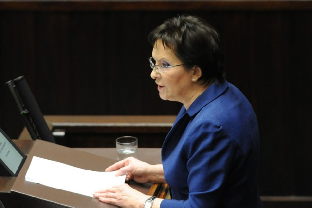 La Première ministre polonaise, Ewa Kopac.... (Photo: AP)