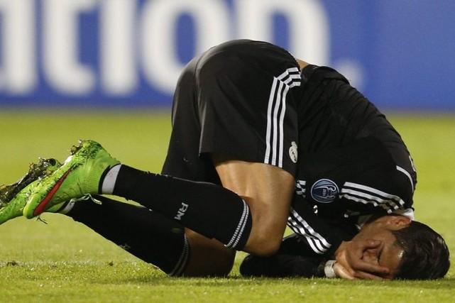 L'attaquant du Real Madrid Cristiano Ronaldo, qui a marqué un penalty et en a... (Photo: Reuters)