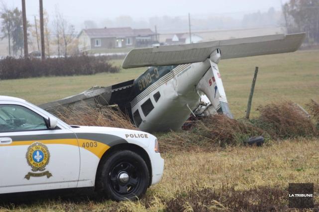L'écrasement d'avion de Princeville, survenu en octobre 2012,... (La Tribune, Yanick Poisson)