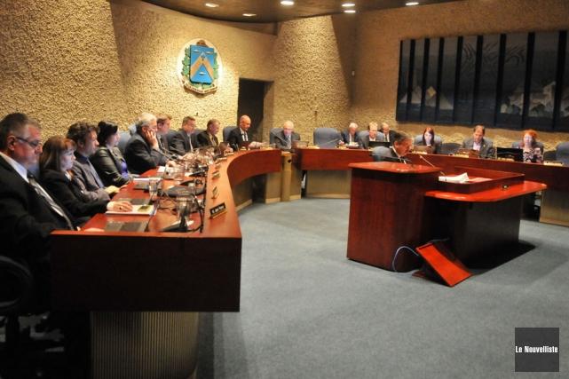 Le conseil municipal de Trois-Rivières.... (Photo: Émilie O'Connor, Le Nouvelliste)