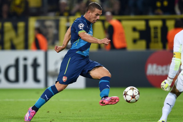 Lukas Podolski... (Photo Patrik Stollarz, archives AFP)