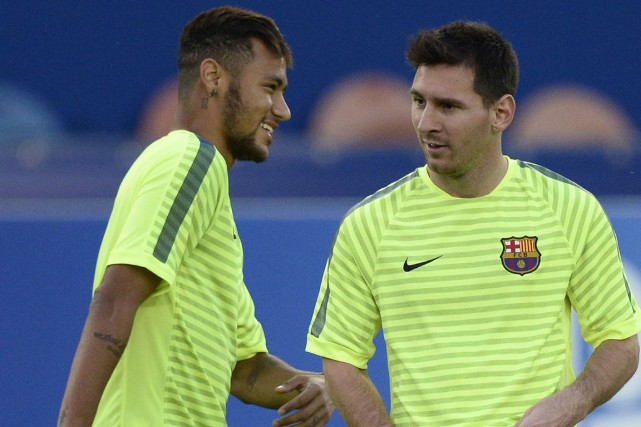 Neymar et Lionel Messi, du FC Barcelone.... (Photo Franck Fife, AFP)