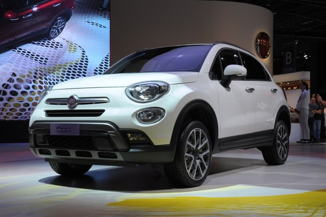 Le Fiat 500X... (PHOTO ERIC PIERMONT, AFP)