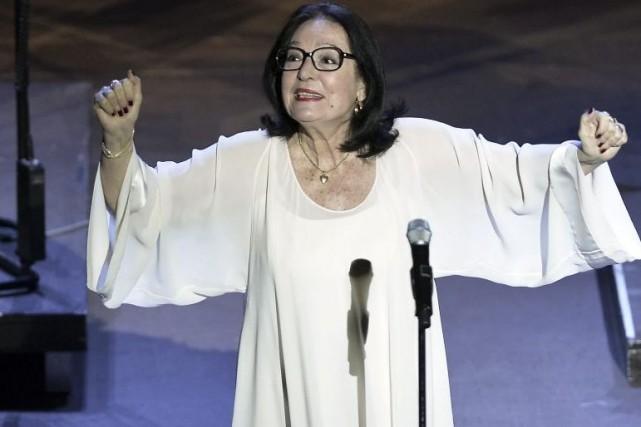 Nana Mouskouri en juillet dernier.... (Photo: archives AFP)