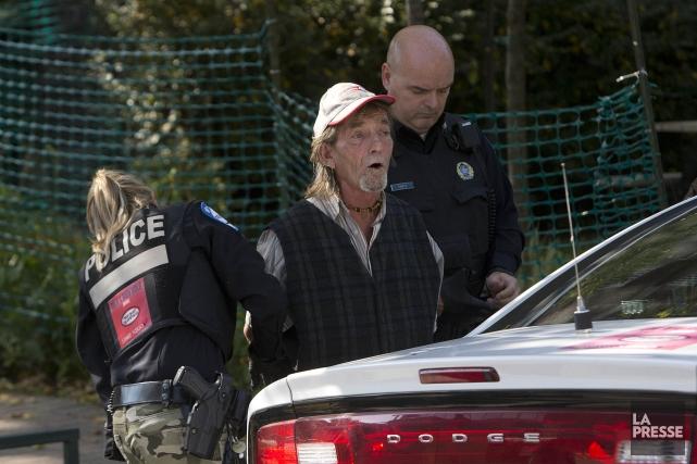 Un suspect a été arrêté. Il s'agit d'un... (Photo Patrick Sanfaçon, La Presse)