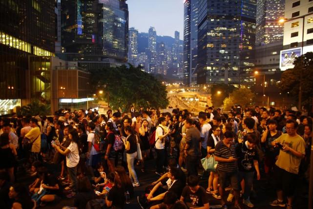 Au moment d'écrire ces lignes, Occupy Central réclamait... (Photo Carlos Barria, Reuters)