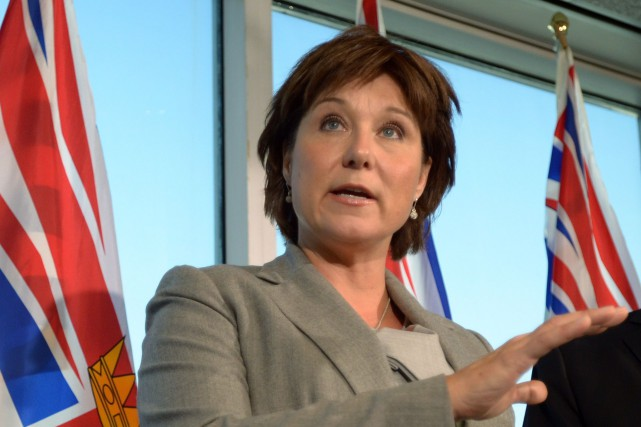 La première ministre de la Colombie-Britannique, Christy Clark... (Photo JONATHAN HAYWARD, Archives PC)