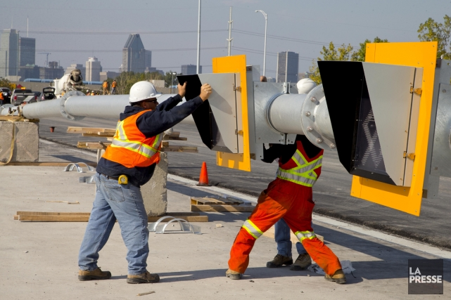 Le pont Champlain sera fermé vers Montréal à... (PHOTO ALAIN ROBERGE, LA PRESSE)