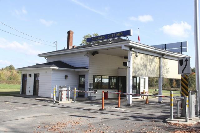 Le poste frontalier de Morses Line à Saint-Armand... (photo Janick Marois)