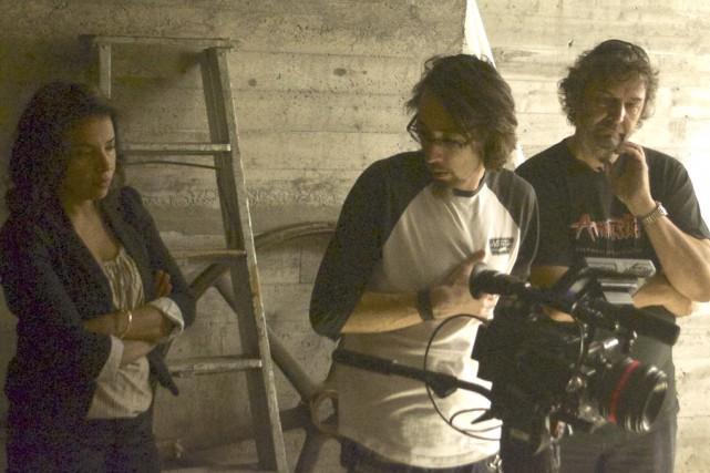 En plein tournage de l'une des scènes... (Photo Andréanne Larouche)