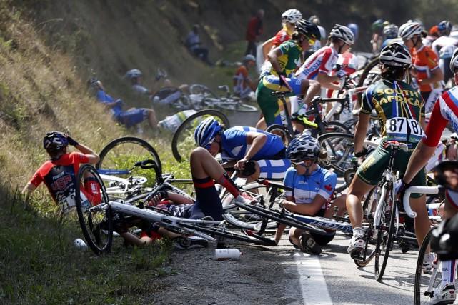 Karol-Ann Canuel a échappé au pire lors d'une... (Photo Javier Lizon, AP)
