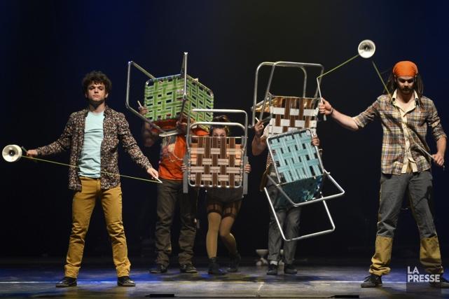 Le collectif de Québec, Flip Fabrique, présentera son spectacle Attrape-moi... (Photo: Bernard Brault, archives La Presse)