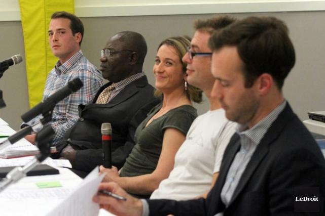 Mathieu Fleury, George Atanga, Catherine Fortin Lefaivre, Marc... (ETIENNE RANGER, LeDroit)