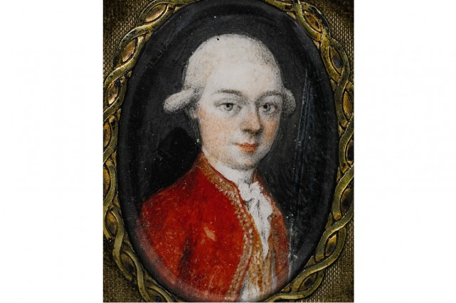 Le portrait miniature de Mozart représente le compositeur... (Photo: AFP)