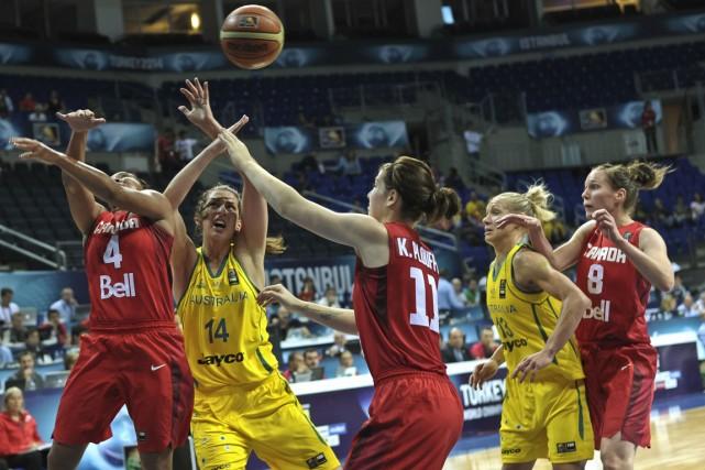 Les Canadiennes se sont inclinées 63-52 devant les... (Photo Ozan Kose, AFP)