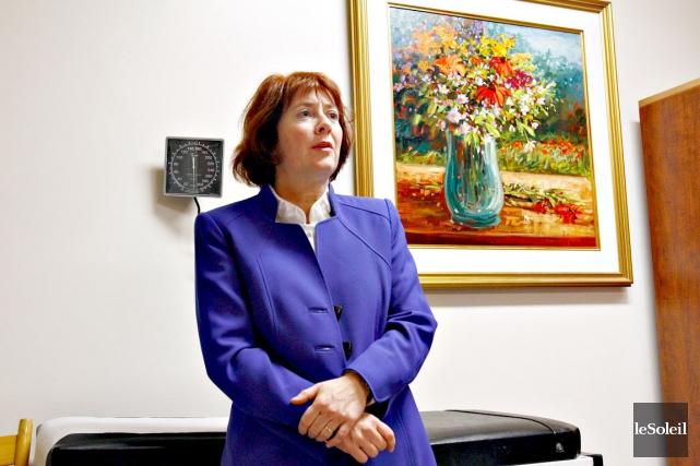 La Dre Louise Provencher a indiqué que l'Hôpital... (Photothèque Le Soleil, Pascal Ratthé)