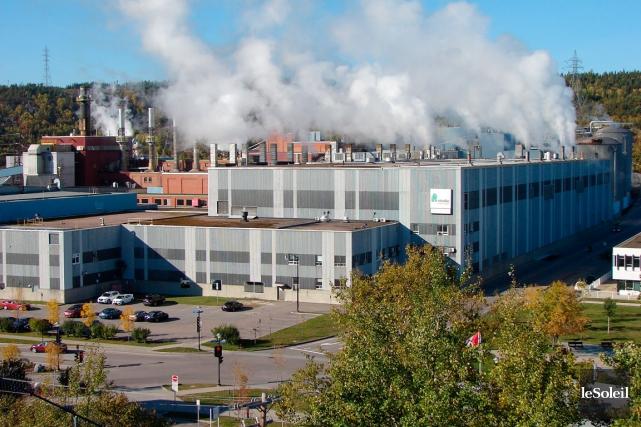 L'usine de Produits forestiers Résolu à Baie-Comeau.... (Photothèque Le Soleil)