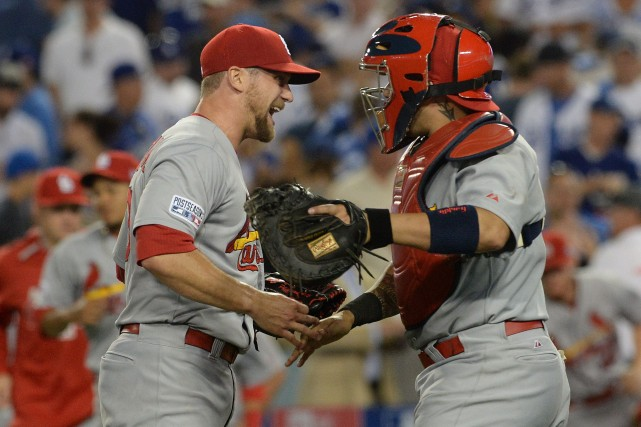 Matt Carpenter a donné l'avance aux Cards avec un double de trois points en... (Photo Jayne Kamin-Oncea, USA Today Sports)