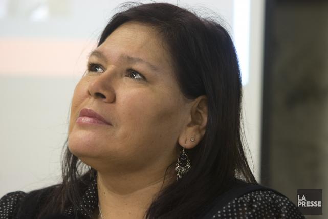 Viviane Michel, présidente de Femmes autochtones du Québec... (PHOTO ROBERT SKINNER, ARCHIVES LA PRESSE)