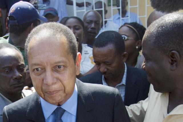 Après plusieurs refus de comparaître, Jean-Claude Duvaliers'était présenté... (Photo AP)