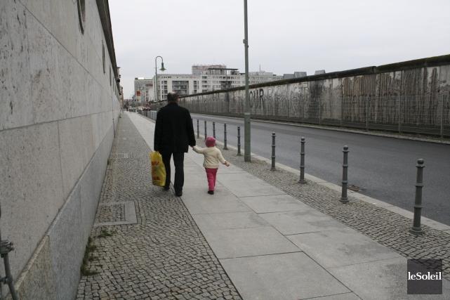 Le mur de Berlin a presque complètement disparu... (Photo Le Soleil, Isabelle Houde)