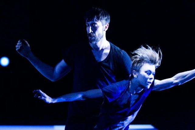 Louise Lecavalier danse avec Frédéric Tavernini dans So... (Courtoisie)