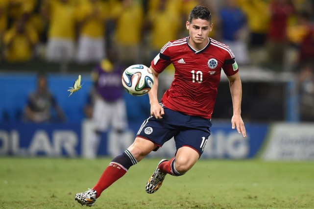 L'attaquant colombien James Rodriguez a été le meilleur... (Photo Fabrice Coffrini, archives AFP)