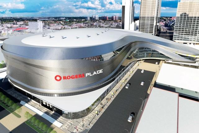 La place Rogers hébergera les Oilers d'Edmonton à... (Photo fournie par le Groupe Canam)