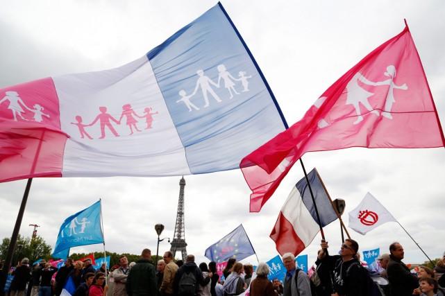 Parmi les manifestants se trouvaientdes adultes et des... (PHOTO JOHN SCHULTS, REUTERS)