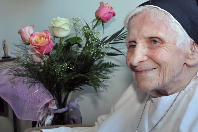 Soeur Laura Beaulieu a célébré ses 105 ans... ((Photo Michel Tremblay))