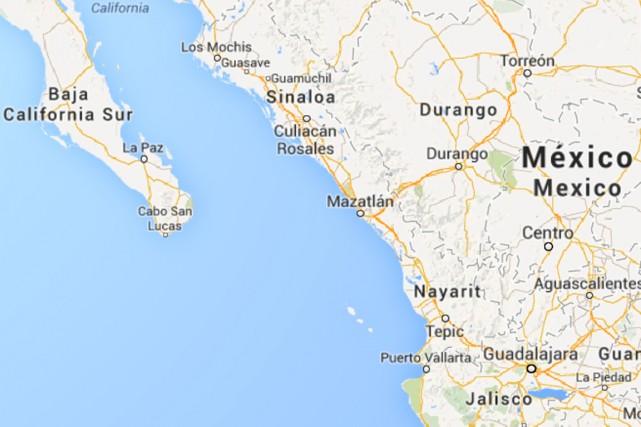 L'ouraganSimon, qui s'était renforcé au-dessus du Pacifique, est... (IMAGE TIRÉE DE MAPS.GOOGLE.CA)