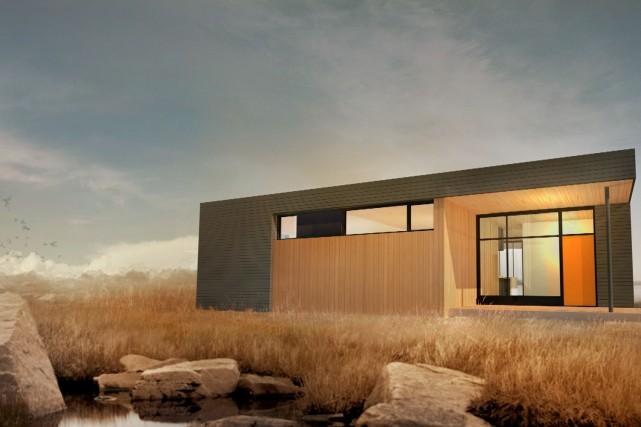 La maison Pur-C se veut contemporaine, avec des... (Photo fournie par les Industries Bonneville)